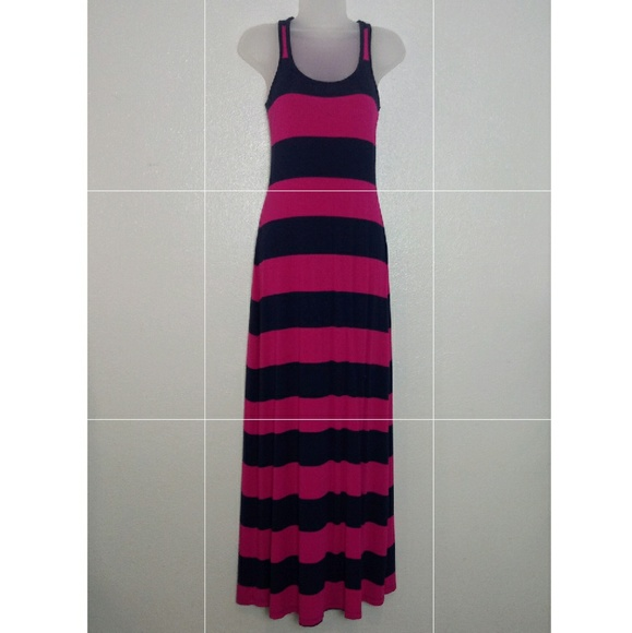 Old Navy Dresses & Skirts - OLD NAVY Pink and Navy Long Maxi Dress